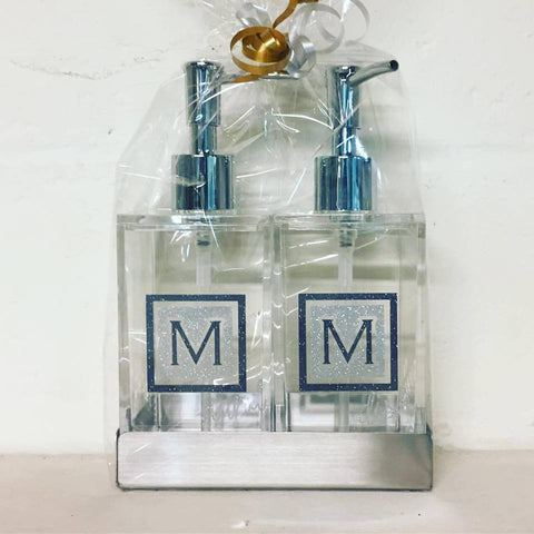 Lucite Soap Dispenser Set