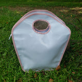 Pink and White Patent Keyhole Bag