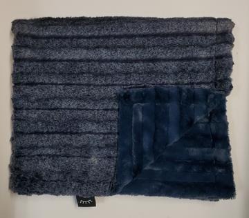 Frosted Navy Blue Minky Blanket