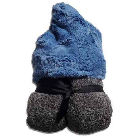 Cobalt Gray Hooded Toddler Towel