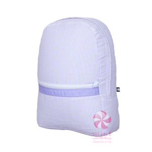 Purple Seersucker Backpack