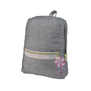 Mini Gray Chambray Backpack