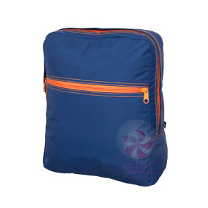 Navy and Orange Backpack