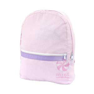 Pink & Purple Seersucker Backpack