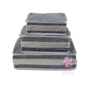 Gray Chambray Stacking Travel Set