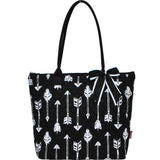 Black and White Arrow Quilted Tote