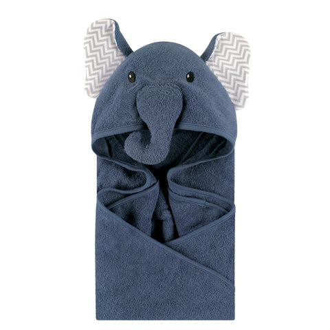 Infant Navy Elephant With Chevron Ears Towel