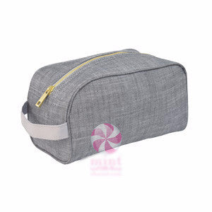 Gray Chambray Toiletry Bag