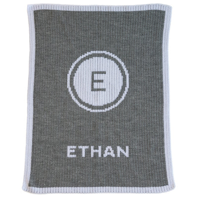 Initial Stamp & Name Stroller Blanket