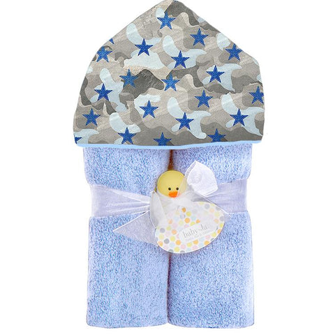 Blue Camo Hooded Toddler Towel
