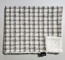 Gray Houndstooth Minky Blanket