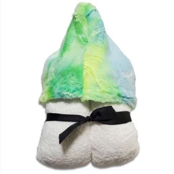 Lemonade Tie Dye Fur Hooded Toddler Towel