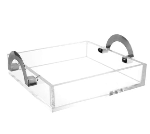 Matzah Tray With Silver Handles
