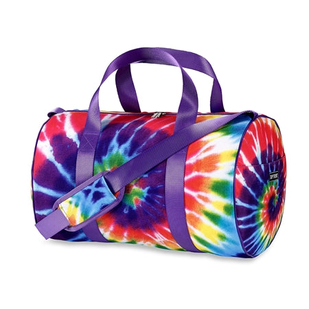 Tie Dye Primary Spiral Canvas Duffle