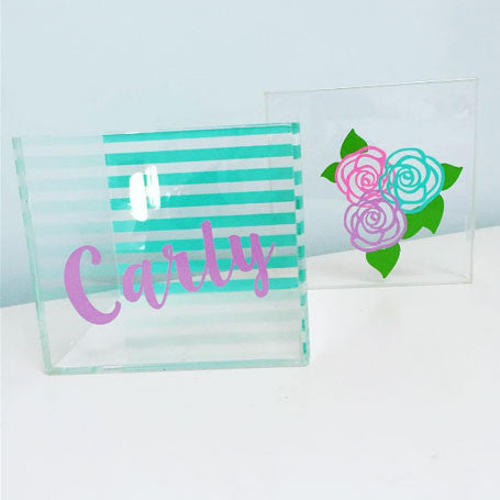 Flower Lucite Box