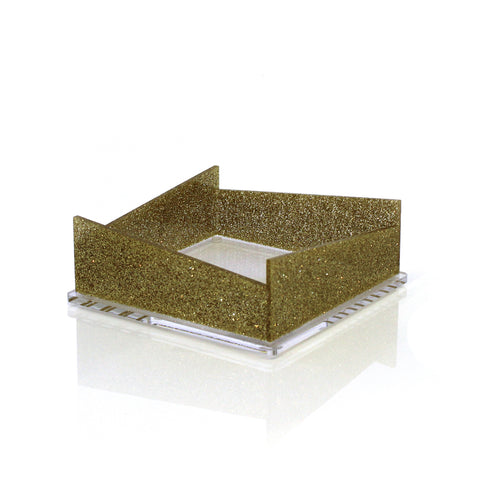 Gold Glitter Napkin Holder
