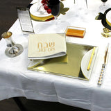 Gold Mirror Lucite Challah Board