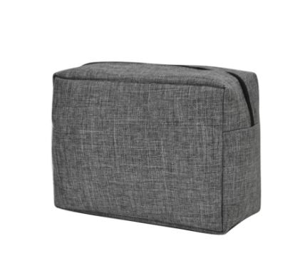 Gray Crosshatch Toiletry Bag