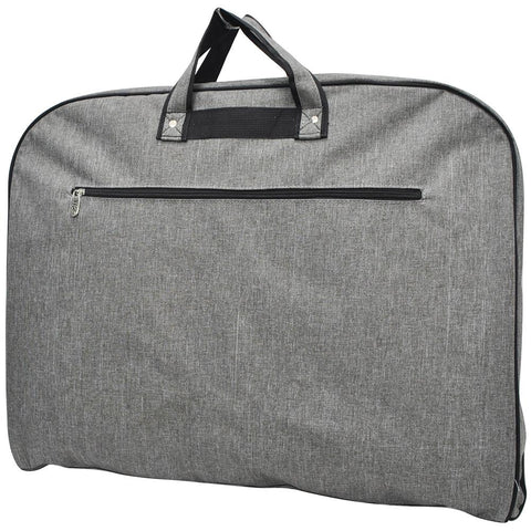 Gray crosshatch garment bag