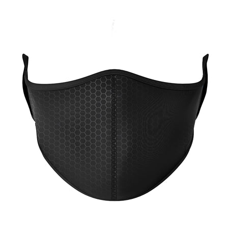 Black and Gray Honeycomb Mask (Ages 8+)