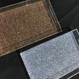 Large Silver Glitter Tray with Handles