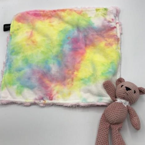 Pastel Tie Dye Lovie With Teddy Bear