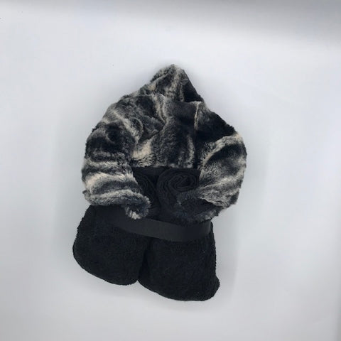 Marble Black Hooded Toddler Towel