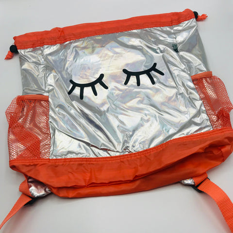 Coral Eyes Drawstring Camp Bag