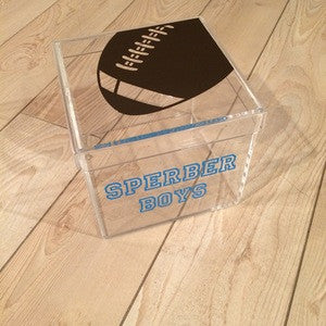 Football Lucite Box