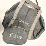 Gray Chambray Medium Duffle