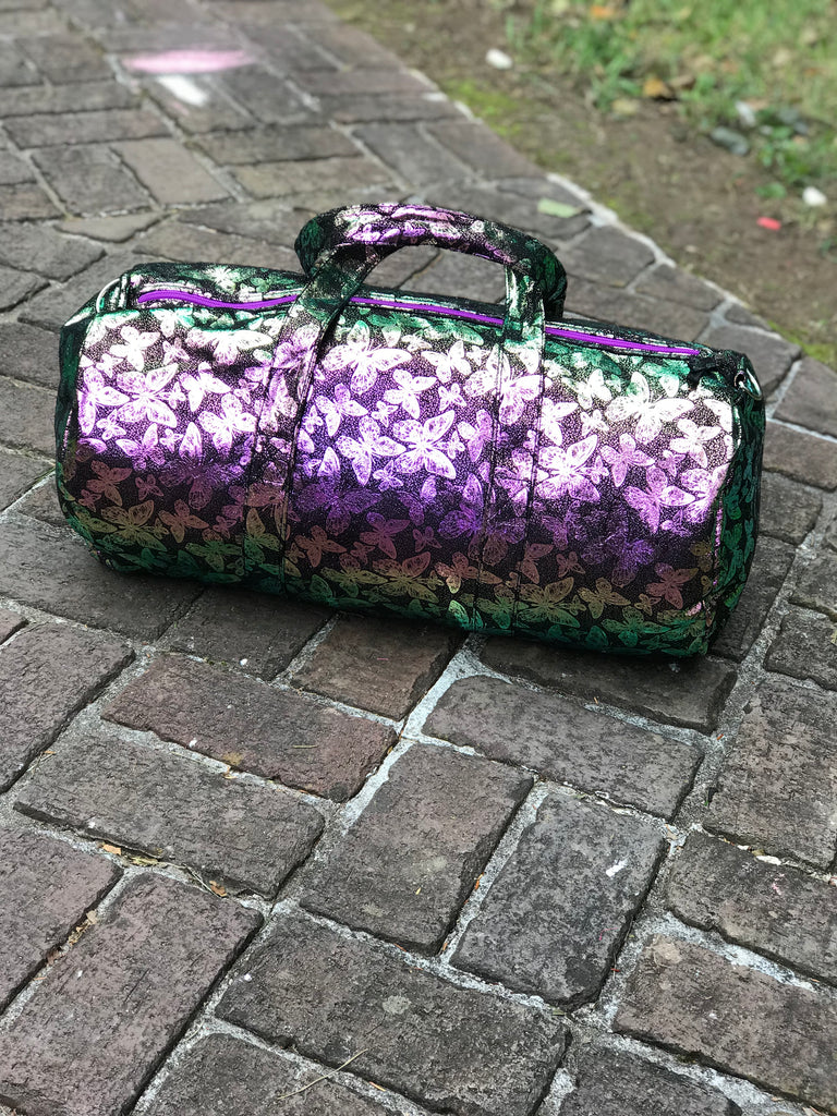 Iridescent Black Butterfly Duffle