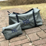 Boys Gray with Navy Toiletry Bag