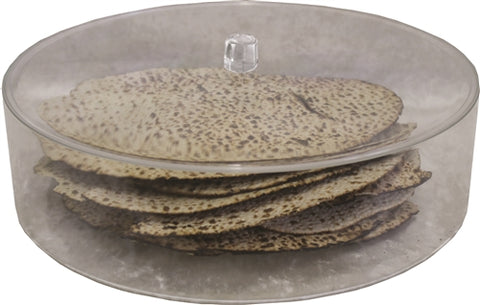 NEW and UPDATED Round Matzah Box with Lid