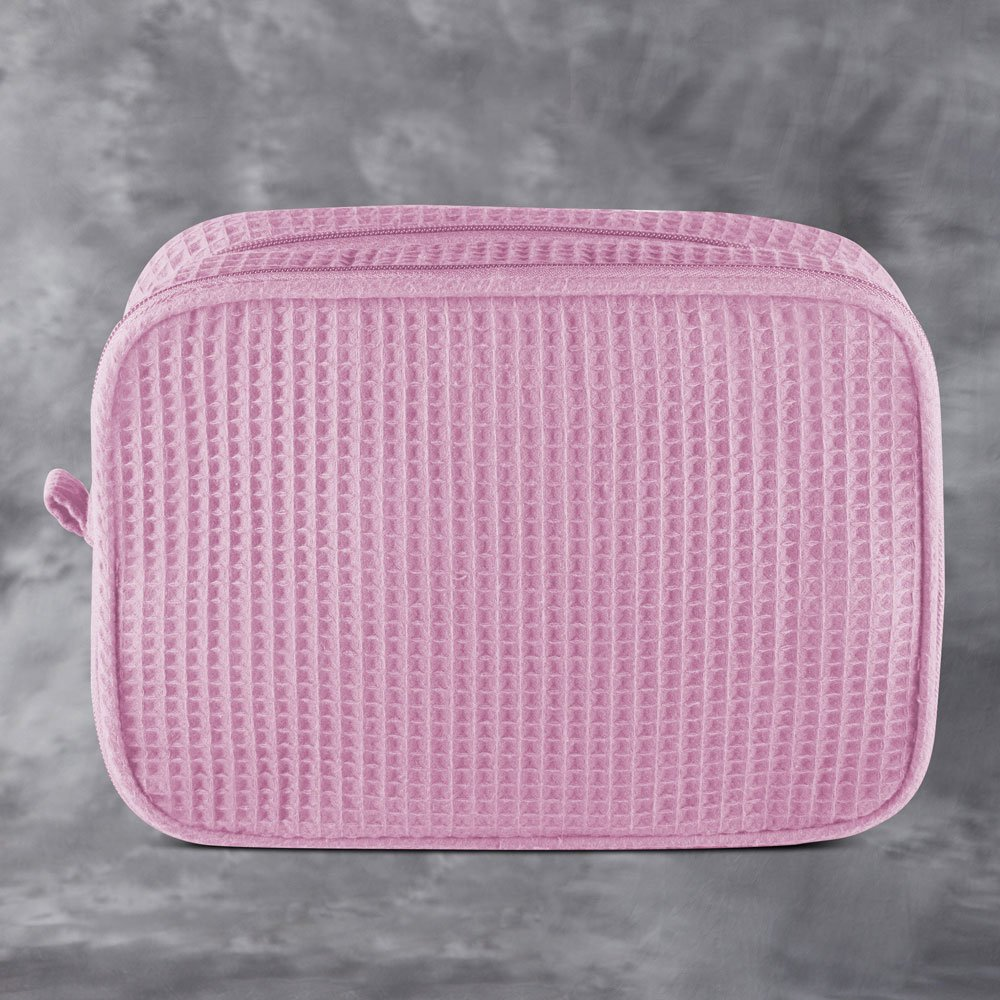 Pink Waffle Toiletry Bag
