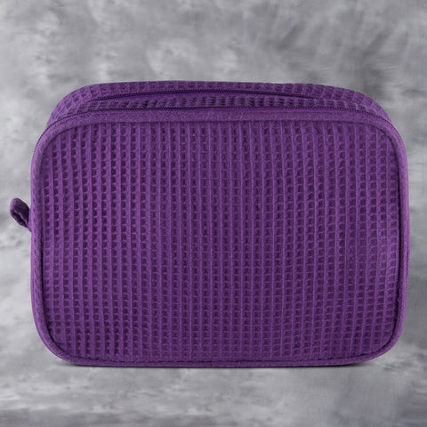 Purple Waffle Toiletry Bag