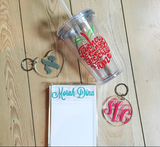 Lucite Circle Keychain