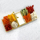 Lucite Gold Shimmer Simanim Tray