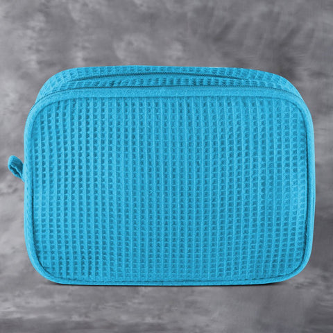 Turquoise Waffle Toiletry Bag