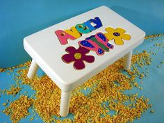 White Flower Stool