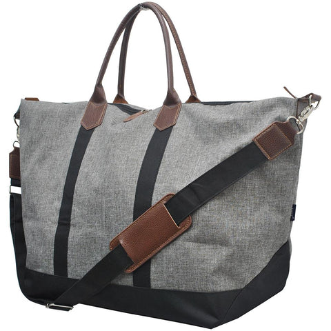 Large Gray Crosshatch Tote Bag