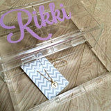 2 Drawer Lucite Jewelry Box