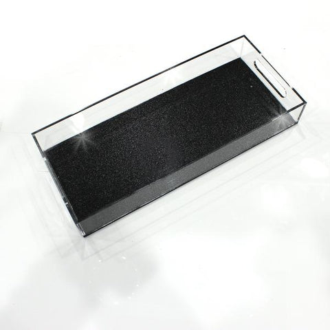 Black Shimmer Lucite Bread Tray