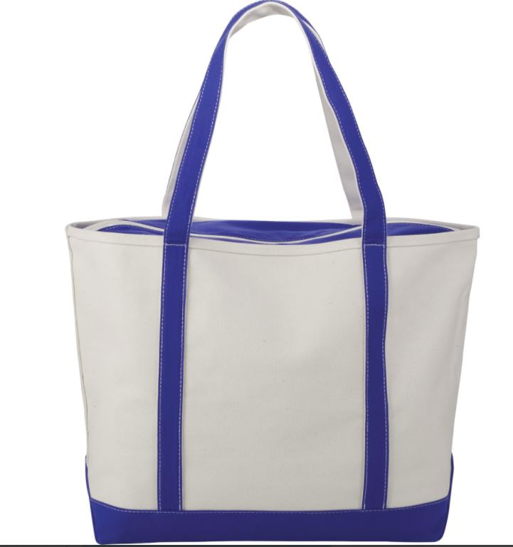 Tote Bag With Royal Blue Accents
