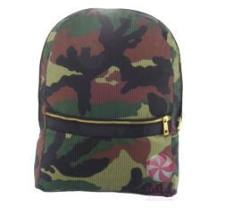 Camo Seersucker Backpack w/ gold zipper