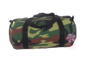 Camo Seersucker Medium Duffle W/ Gold Zipper