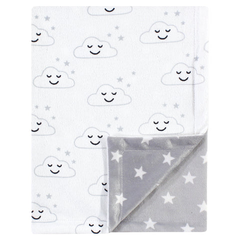 Clouds and Stars Minky Blanket