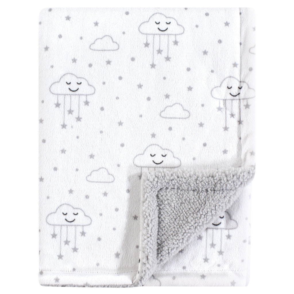 Gray Clouds Minky Blanket