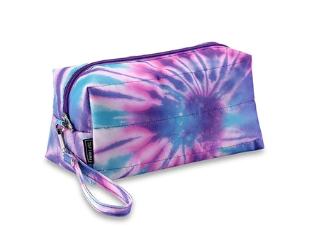 Puffer Purple and Blues Tie Dye Cosmetic Bag