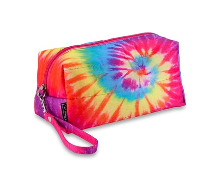 Puffer Primary Tie Dye Cosmetic Bag
