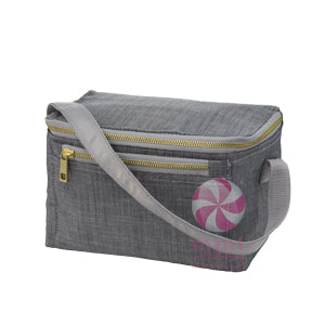 Gray Chambray Bucket Lunch Box